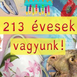 213 ÉVESEK VAGYUNK!